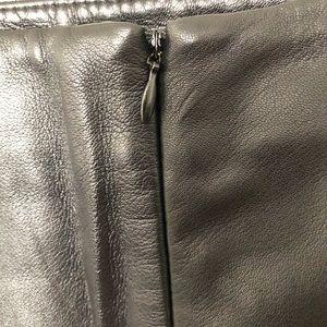 Liz Claiborne Skirts - Liz Claiborne Black Leather Laser Cut Pencil Skirt